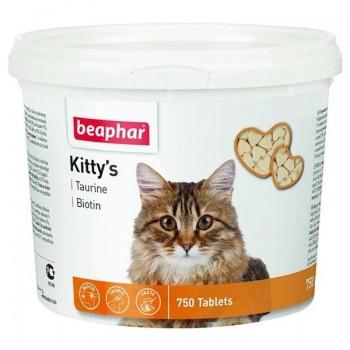 Beaphar / Беафар ВитаМиниз. лакомство «Kitty`s+Taurine+Biotin» с таурином и биотином д/кошек, 750шт