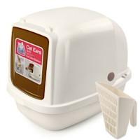 Catidea Туалет-домик XL Catidea 63х48х41 см, с совком, кремовый