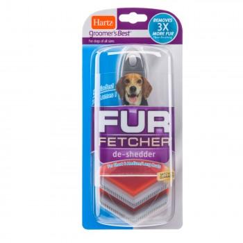 """Hartz / Хартц Расческа """"ФУР ФЕТЧЕР"""", для вычесывания шерсти во время линьки, для средних собак GB Fur Fetcher - Medium Dog"""