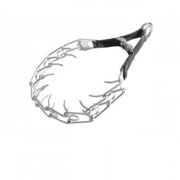V.I.Pet Ошейник строгий 3,2 мм х 55 см с пряжкой, профессиональный, сталь,капрон ОС-СР 3255