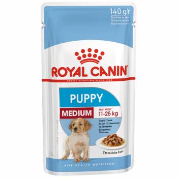 Royal Canin / Роял Канин Medium Puppy корм для щенков средних пород c 2 до 10 месяцев (соус), 140 гр