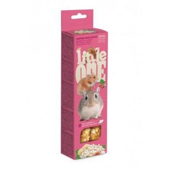 Little One Палочки для хомяков, крыс, мышей и песчанок с воздушным рисом и орехами, 2х60 гр