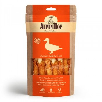 AlpenHof / Альпен Хофф Жевательные палочки с уткой для мел собак/щенков 50 гр