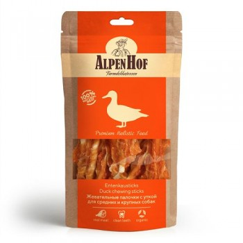 AlpenHof / Альпен Хофф Жевательные палочки с уткой для сред/круп собак 80 гр