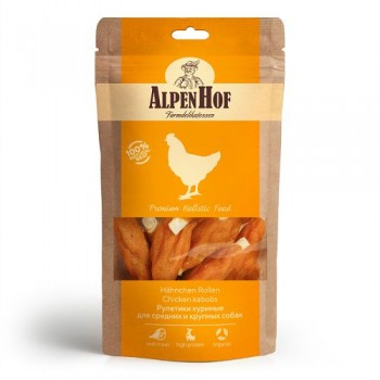 AlpenHof / Альпен Хофф Рулетики куриные для сред/круп собак 80 гр