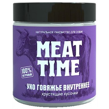 Meat Time / Мит тайм Ухо говяжье внутреннее Хрустящие кусочки, 60 гр