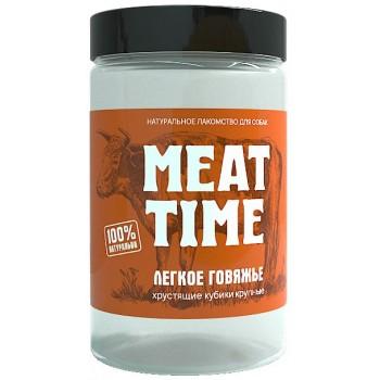 Meat Time / Мит тайм Легкое говяжье Хрустящие кубики крупные, 70 гр