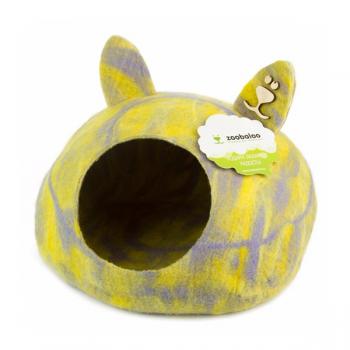 """ZooBaloo Домик """"Уютное гнездышко"""" с ушками (шерсть, форма круг, мультиколор розовый) L: 40x40x20 см"""