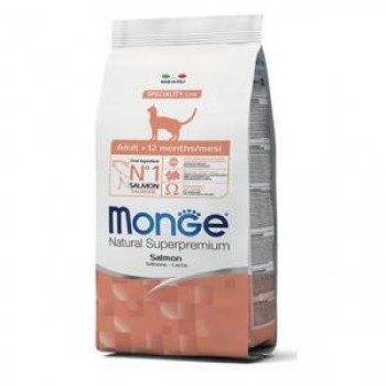 Monge / Монж Cat Salmon корм для взрослых кошек с лососем 10 кг