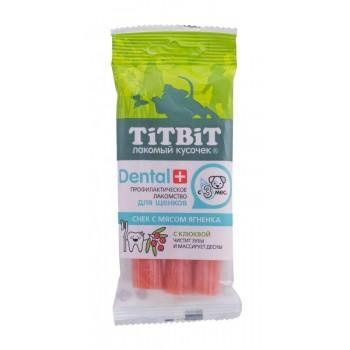 TitBit / ТитБит ДЕНТАЛ+ Снек с мясом ягненка для щенков средних пород (16 шт)
