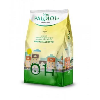 Наш Рацион Мясное ассорти сухой корм для кошек 1,5 кг