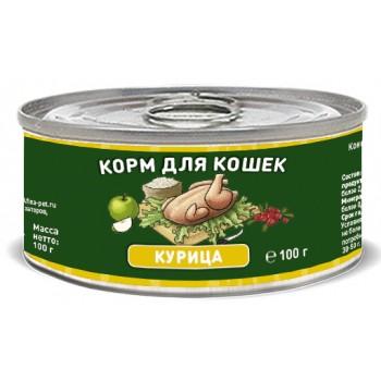 Solid Natura / Солид Натура Holistic Курица влажный корм для кошек жестяная банка 0,1 кг