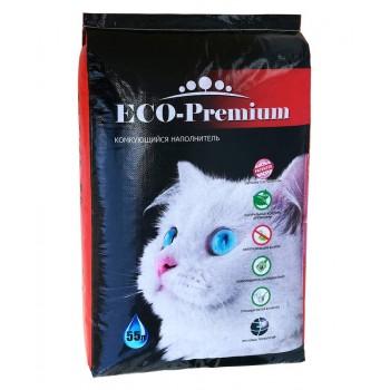 ECO Premium / ЭКО Премиум GREEN наполнитель древесный без запаха 20 кг 55 л