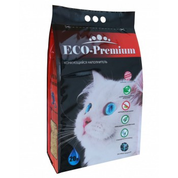 ECO Premium / ЭКО Премиум GREEN наполнитель древесный сосна 7,6 кг 20 л