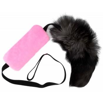 GoSi / ГоСи Шуршик с натуральным хвостом Пушнина этикетка Еврослот мягкая игрушка для собак  розовый