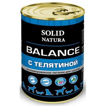 Solid Natura / Солид Натура Balance Телятина влажный корм для щенков жестяная банка 0,34 кг