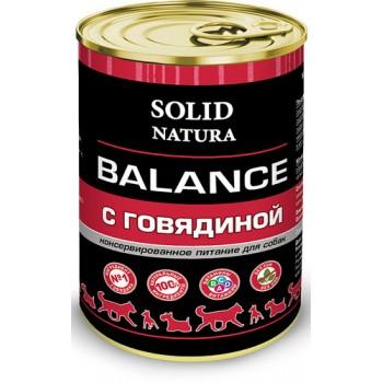 Solid Natura / Солид Натура Balance Говядина влажный корм для собак жестяная банка 0,34 кг