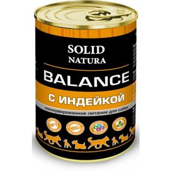Solid Natura / Солид Натура Balance Индейка влажный корм для собак жестяная банка 0,34 кг