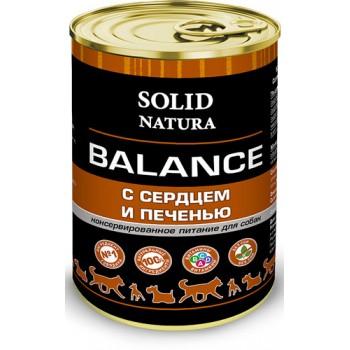 Solid Natura / Солид Натура Balance Сердце и печень влажный корм для собак жестяная банка 0,34 кг