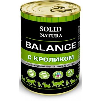 Solid Natura / Солид Натура Balance Кролик влажный корм для собак жестяная банка 0,34 кг