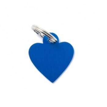My Family / Май Фемили Basic Сердце адресник синий маленький