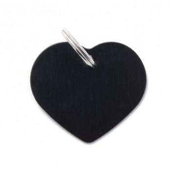My Family / Май Фемили Basic Сердце адресник черный большой