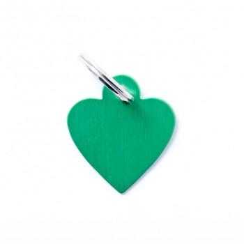 My Family / Май Фемили Basic Сердце адресник зеленый маленький