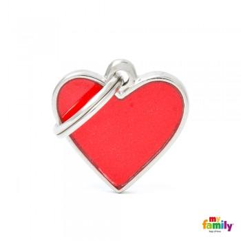 My Family / Май Фемили Reflective Сердце адресник красный маленький