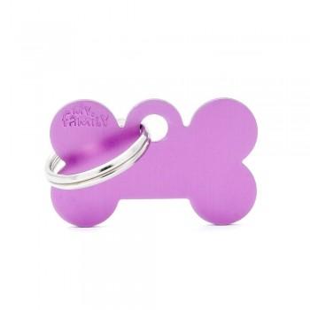 My Family / Май Фемили Basic Aluminum Косточка маленький адресник фиолетовый