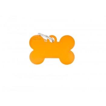 My Family / Май Фемили Basic Aluminum Косточка большой адресник оранжевый