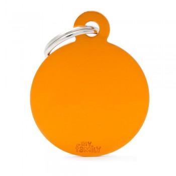 My Family / Май Фемили Basic Aluminum Круглый большой адресник оранжевый