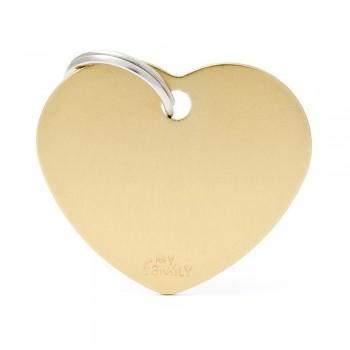 My Family / Май Фемили Basic Aluminum Сердце большой адресник золотой