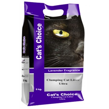 Indian Cat Litter / Индиан Кет Литтер Аромат №4 Лаванда наполнитель бентонит  10 кг