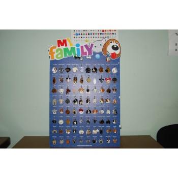 My Family / Май Фемили Colors Коллекция 119 шт адресник цветной большой