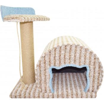 Glory Life / Глори Лайф Котомагия (круглый дом, толстая когтеточка, лежанка) спально-игровая площадка для кошек мебельная ткань 60x40x50 см