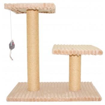 Glory Life / Глори Лайф Лесенка (2 столбика с площадкой) Джут с игрушкой. когтеточка 54x31 см