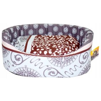 Glory Life / Глори Лайф поплин с подушкой №4 лежанка для кошек и собак разноцветный 53x40x18 см
