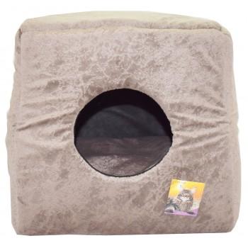"""Glory Life / Глори Лайф Дом-куб """"3 товара в 1"""" мебельная ткань домик для кошек и собак мебельная ткань 40x40x40"""