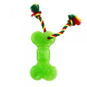 Doglike / Доглайк Кость большая с канатом Dental Knot (зеленый)