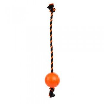 Doglike / Доглайк Мяч с канатом средний (оранжевый)