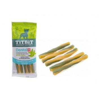 TitBit / ТитБит ДЕНТАЛ+ Палочка витая с сыром для собак мини-пород (23 шт)