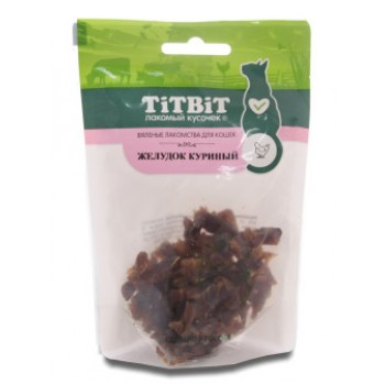 TitBit / ТитБит Желудок куриный для кошек (Вяленые лакомства) 30 г