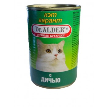 Dr.Alders / Доктор Алдерс Гарант кон.д/кошек Дичь, 415 гр