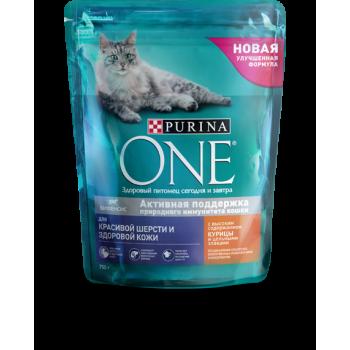 Purina One / Пурина Ван сухой корм д/кошек против комков шерсти, 750 гр