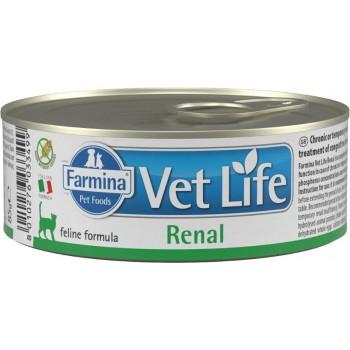 Farmina / Фармина Vet Life RENAL кон. паштет диета д/кошек при почечной недостаточности, вспомогательное средство в терапии сердечной недостаточности 85 гр