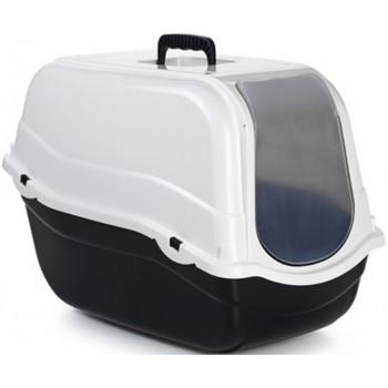 Beeztees / Бизтис 400530 Romeo Туалет-домик д/кошек из эко-пластика черно-оливковый 57*39*41см
