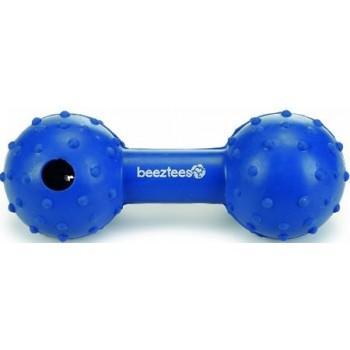 """Beeztees / Бизтис 625933 Игрушка д/собак """"Гантель с колокольчиком"""" голубая, резина 11,5см"""
