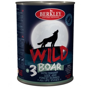 Berkley / Беркли 75082 Wild кон.д/собак №3 Кабан с пастернаком, сладким луком и лесными ягодами 400 г