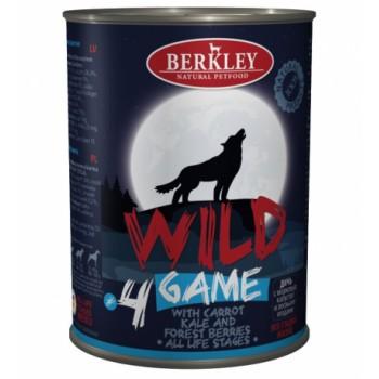 Berkley / Беркли 75083 Wild кон.д/собак №4 Дичь с морковью, капустой и лесными ягодами 400 г