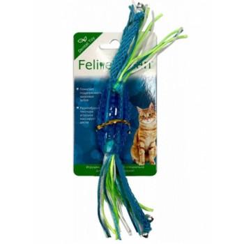 Feline Clean / Фелин Клин игрушка для кошек Dental Конфетка прорезыватель с лентами, резина